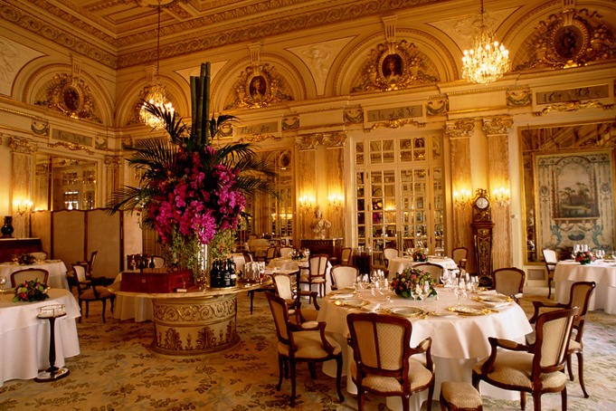 Opulent fine-dining establishment Restaurant Louis XV at elegant Hotel de Paris.