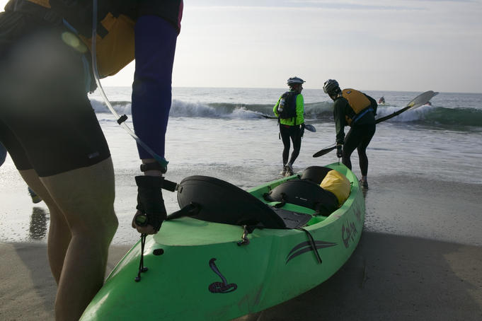 Sea-kayakers in Eco-Challenge endurance race.