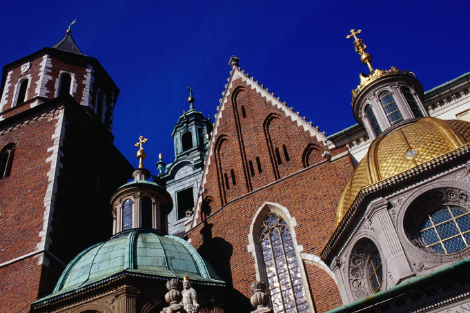 Exterior of Wawel Cathedral.