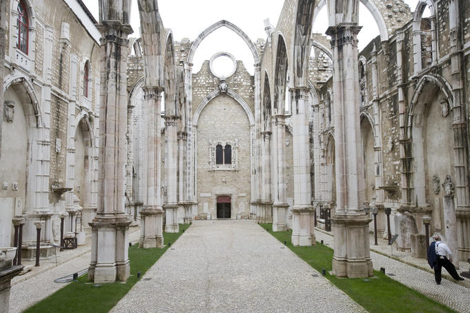 Skeletal ruins of Convento do Carmo, Chiado.