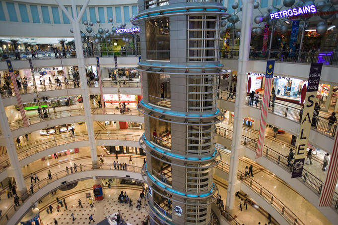 Suria KLCC shopping centre inside Petronas Towers.