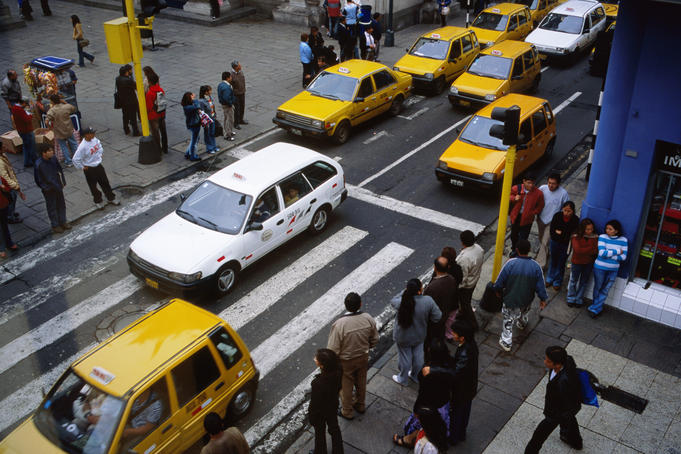 Just a few of Lima's innumerable taxis!