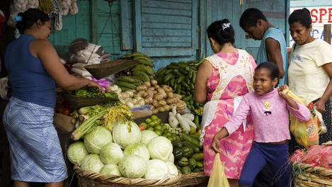 vegetable stall, Bluefields