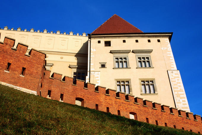 Exterior of Wawel Castle.