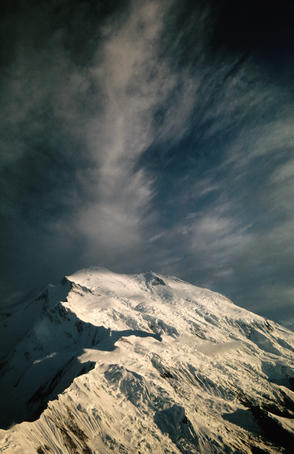 Mt McKinley and clouds.