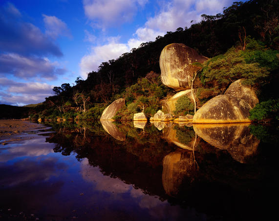Whale Rock at Tidal River, Wilsons Promontory National Park.