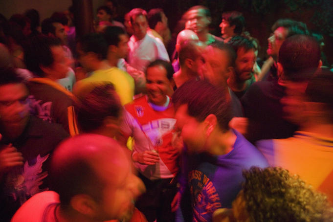 Dancers at Fragil Nightclub, Barrio Alto.