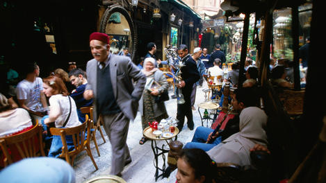 People at Fishawi, Khan al-Khalili, Cairo