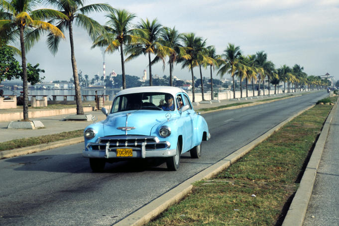 Classic car on the Malecon.