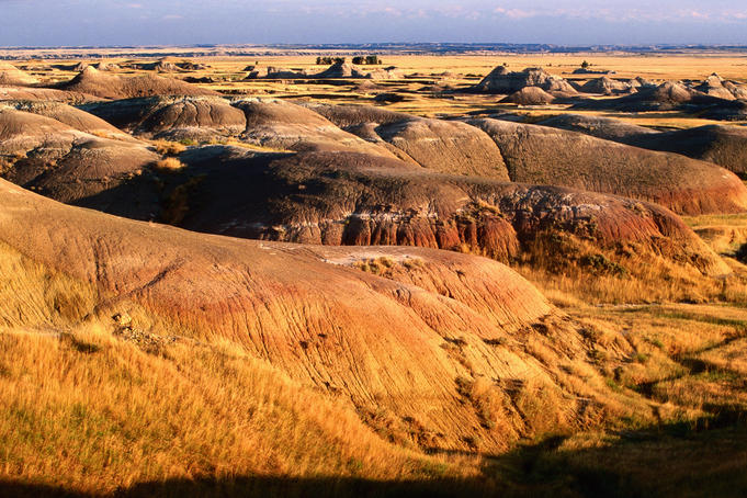 Southeast from Badlands Loop Road at Yellow Mounds Overlook.