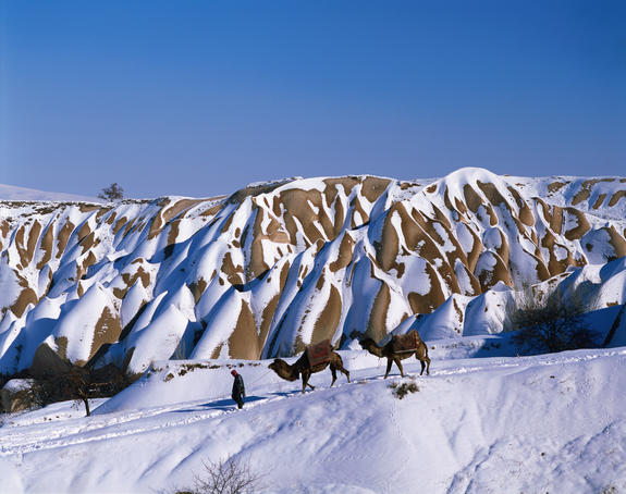 Uchisar in winter.