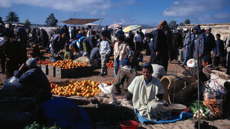 Fruit and vegetable market, Atlas mountains