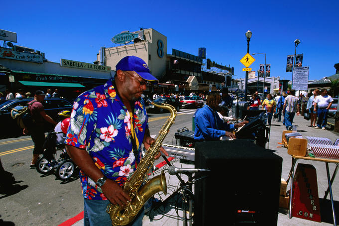 Jazz street performance, Fisherman's Wharf.