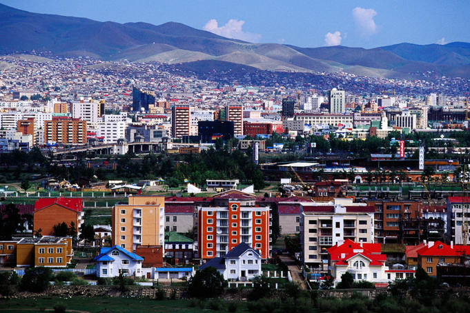 Overhead of Ulaanbaatar from Zaisan Memorial.