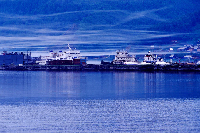 Ships in harbour at Port Baikal.