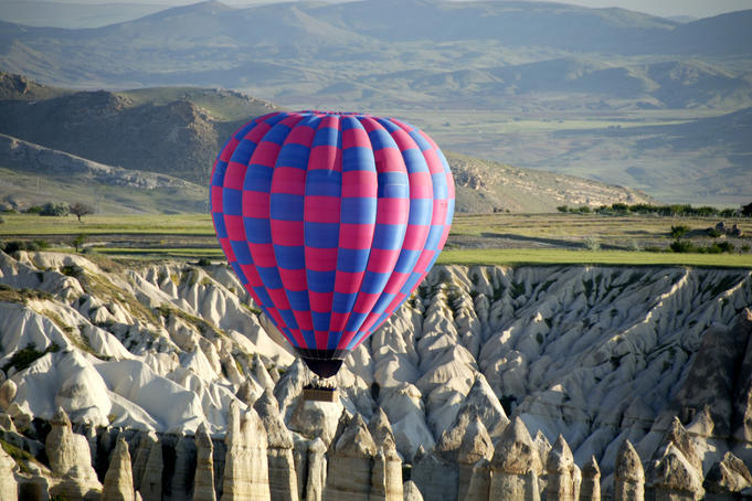 Balloon ride over Capadoccia.