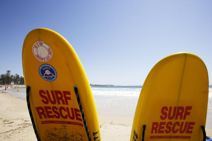 Surf rescue boards, Manly Beach.