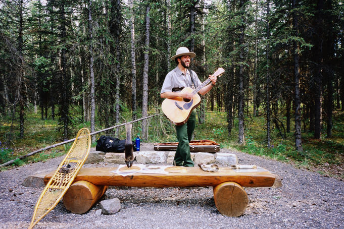 Singing ranger, public interpretation program.