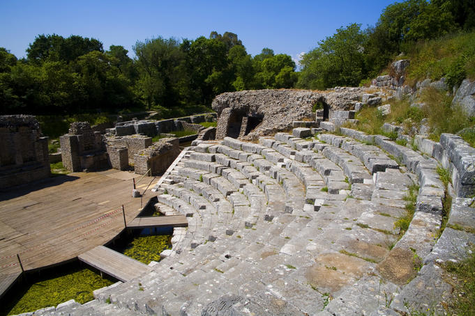 Theatre in Greek-Roman archaeological site, Butrinti.