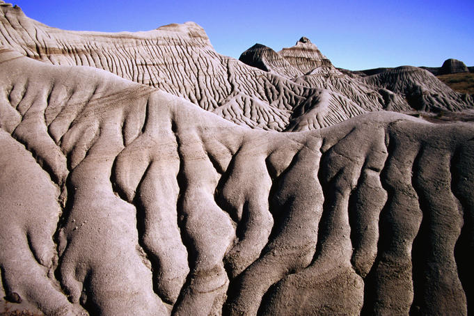 Badlands landscape amid the richest repository of dinosaur fossils on the planet.