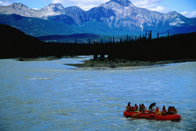 Rafting on the Athabasca River.