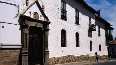 Historic whitewashed building, Sucre