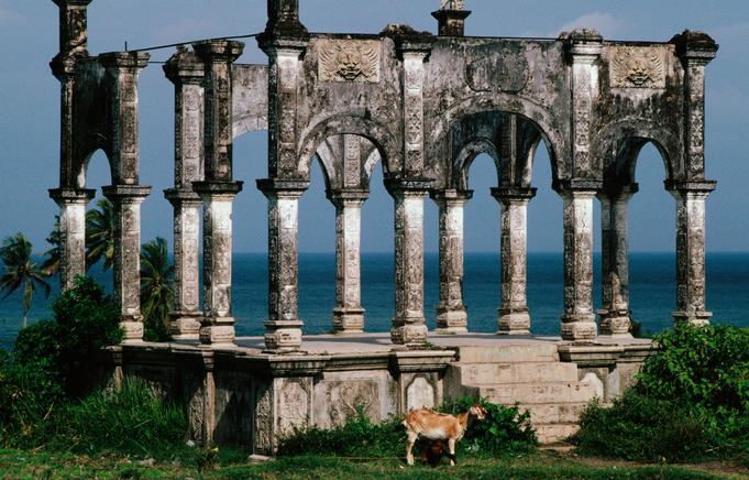 Remnants of Royal Bathing Palace in Ujung.