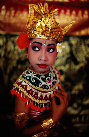 Portrait of Magapati dancer.