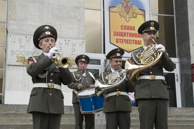 Brass band of the Central Museum of Armed Forces.