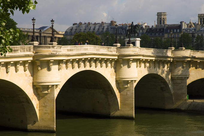 Historic Pont Neuf, River Seine.