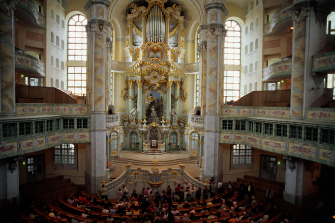 Interior Baroque detail, Frauenkirche.