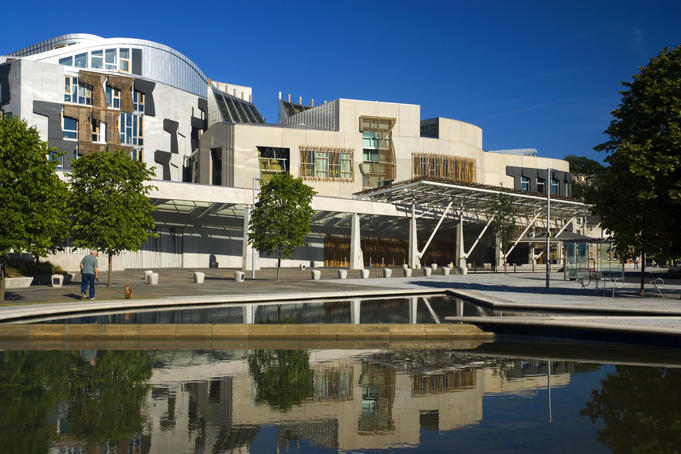 Scottish Parliament Building.