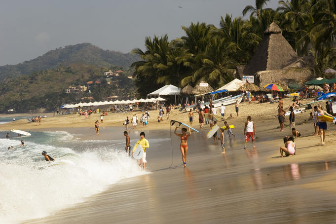 Main beach at Sayulita.