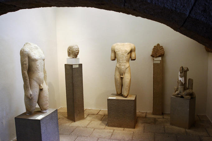 Exhibits at Archeological Museum.