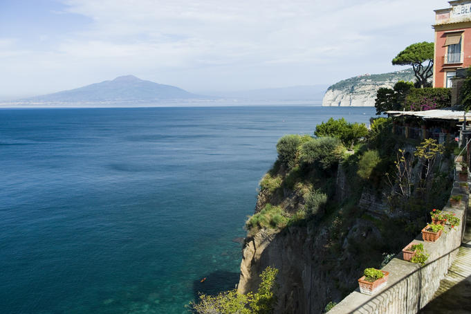 Bay of Naples from Museo Correale.