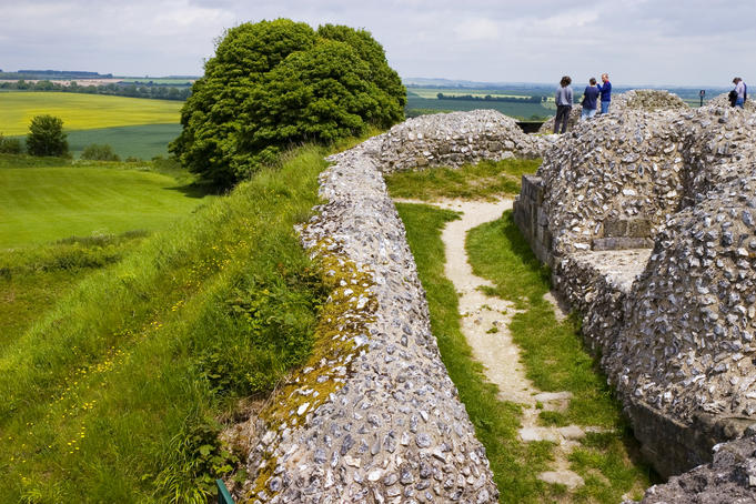 Iron Age hillfort at Old Sarum.