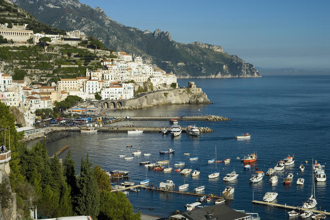 Overlooking the township of Amalfi.