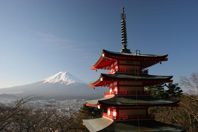 The pagoda of Chureito & Mount Fuji