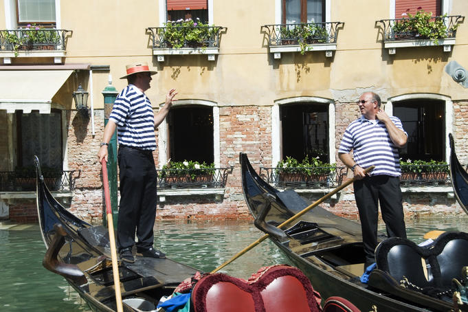 Gondolas on Bacino Orseolo.