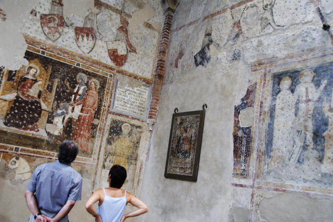 14th-century frescoes in former Chiesa di San Giorgetto dei Domenicani (also known as Chiesa di San Pietro Martire).