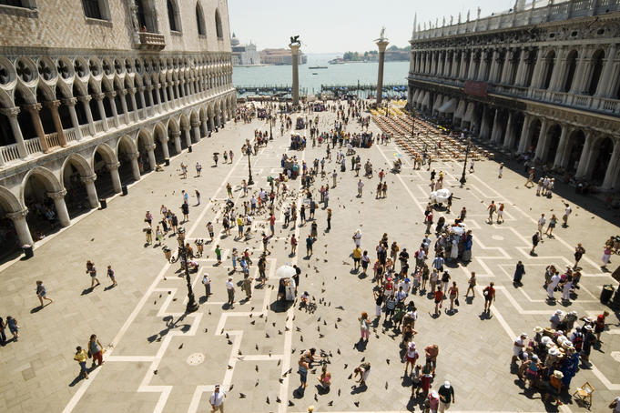 Piazzetta San Marco from terrace of Basilica di San Marco.