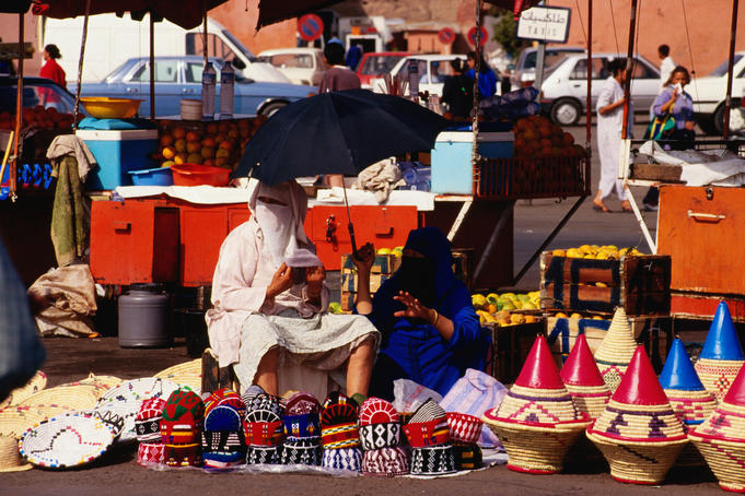 Woman selling souvenirs.