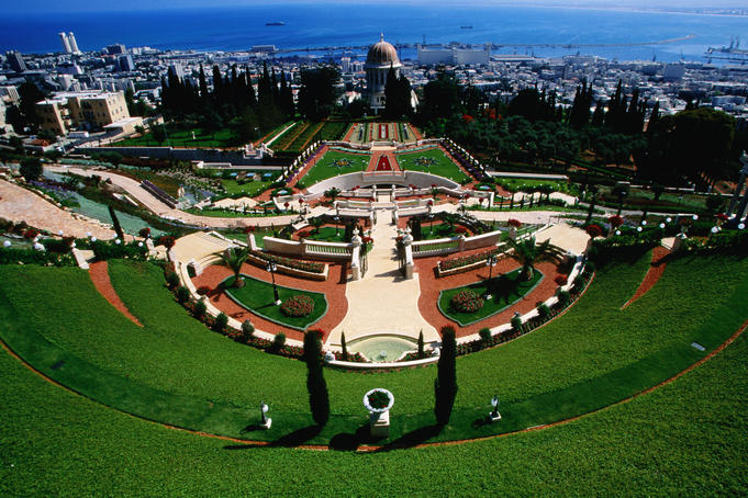 Bahai shrine and garden on Mount Carmel.