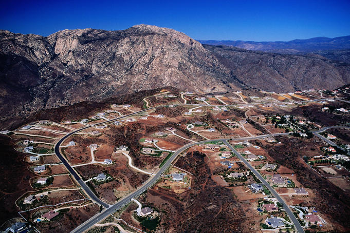 Aerial of Flynn Springs.