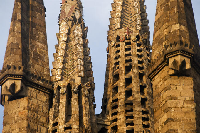 Towers of La Sagrada Familia.