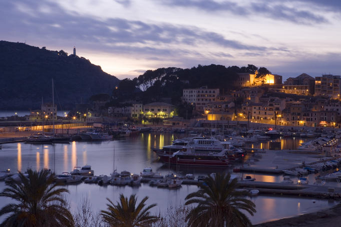 Port de Soller in the evening.
