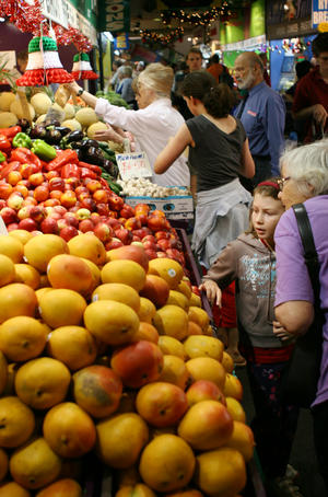 Shoppers at the Adelaide Market.