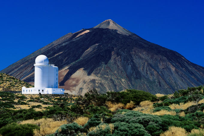 Teide volcano and astronomical observatory.