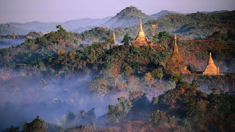 Temples and jungle, Myanmar