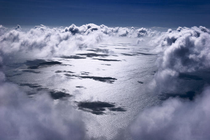 Clouds from the plane above the Torres Strait